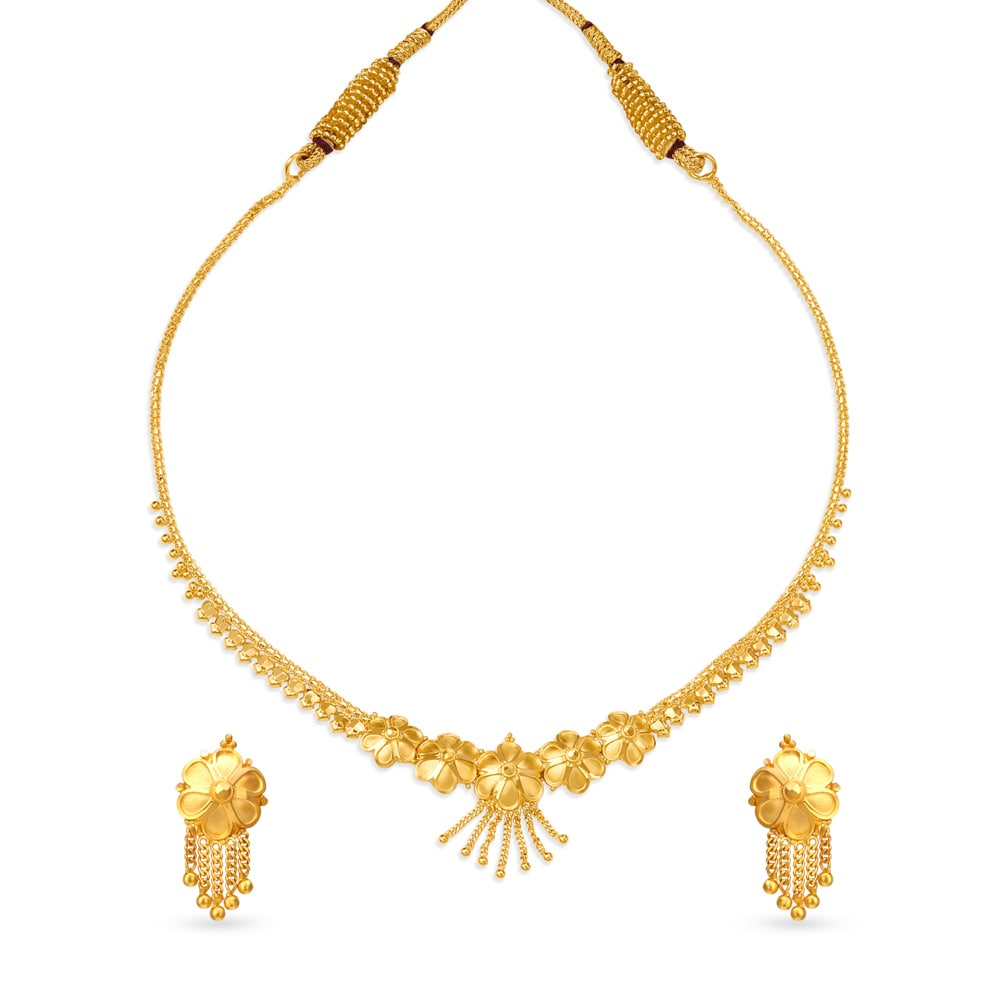 Buy Gold Necklace Set Online Latest Gold Necklace Designs For