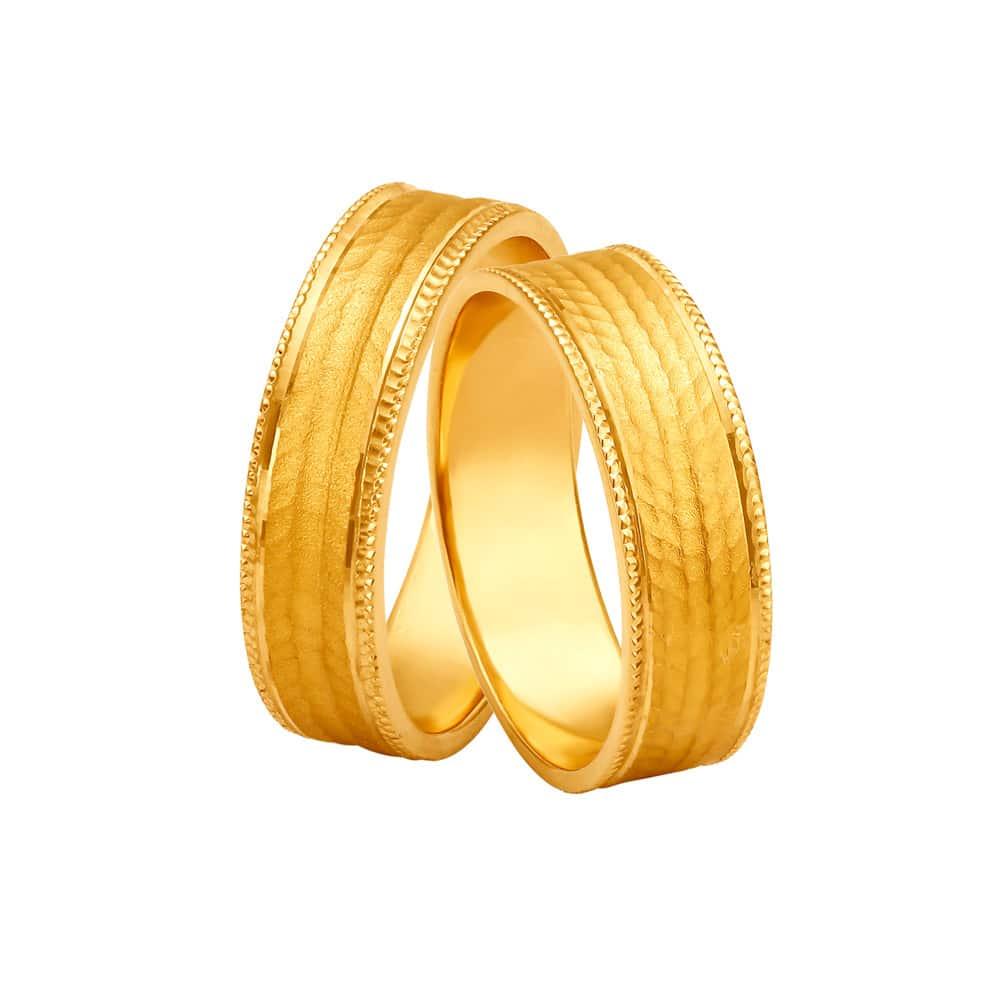Couple Rings Buy Gold Diamond Jewellery Rings Online Tanishq