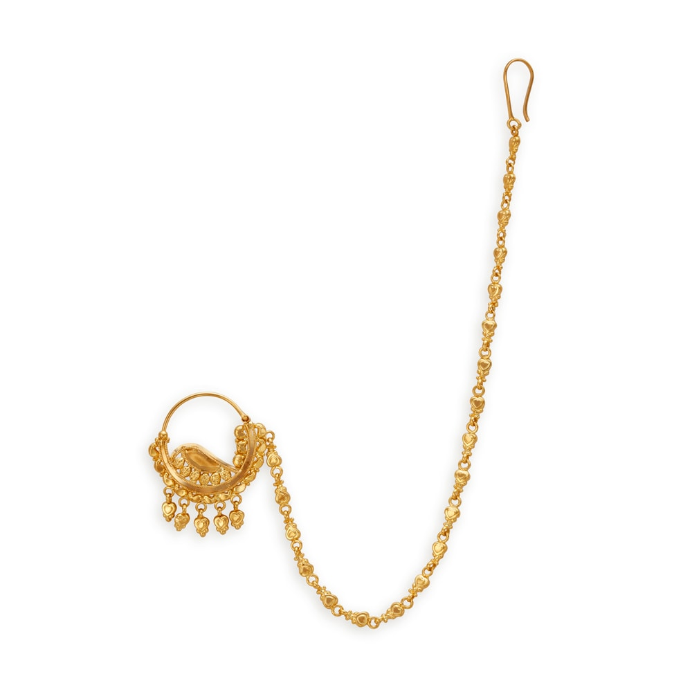 Buy Nose Pin Online In India At Best Price Gold Diamond Nose Pin Design Online At Tanishq