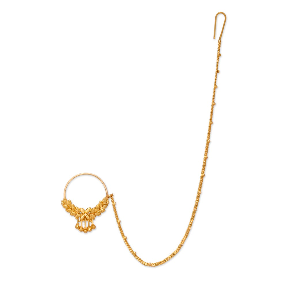 22 Karat Gold Nose Ring Tanishq