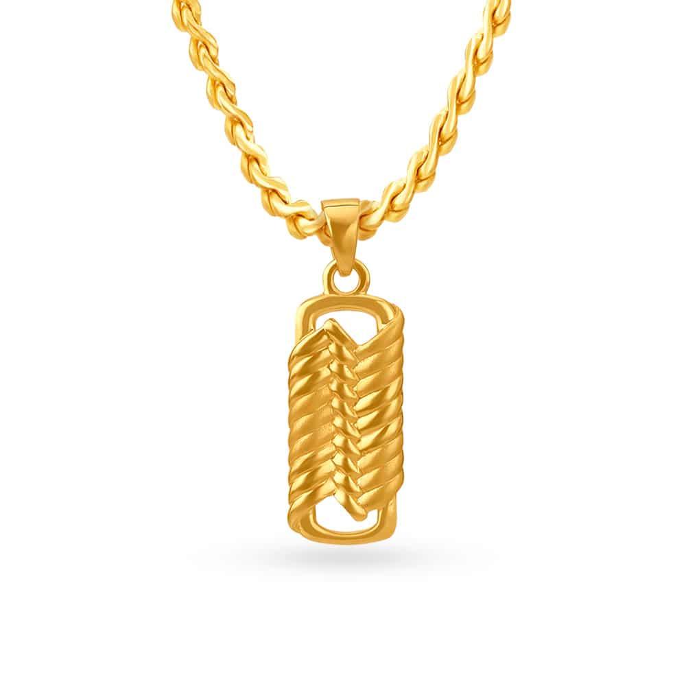 Tanishq Mangalam 22KT Yellow Gold Pendant