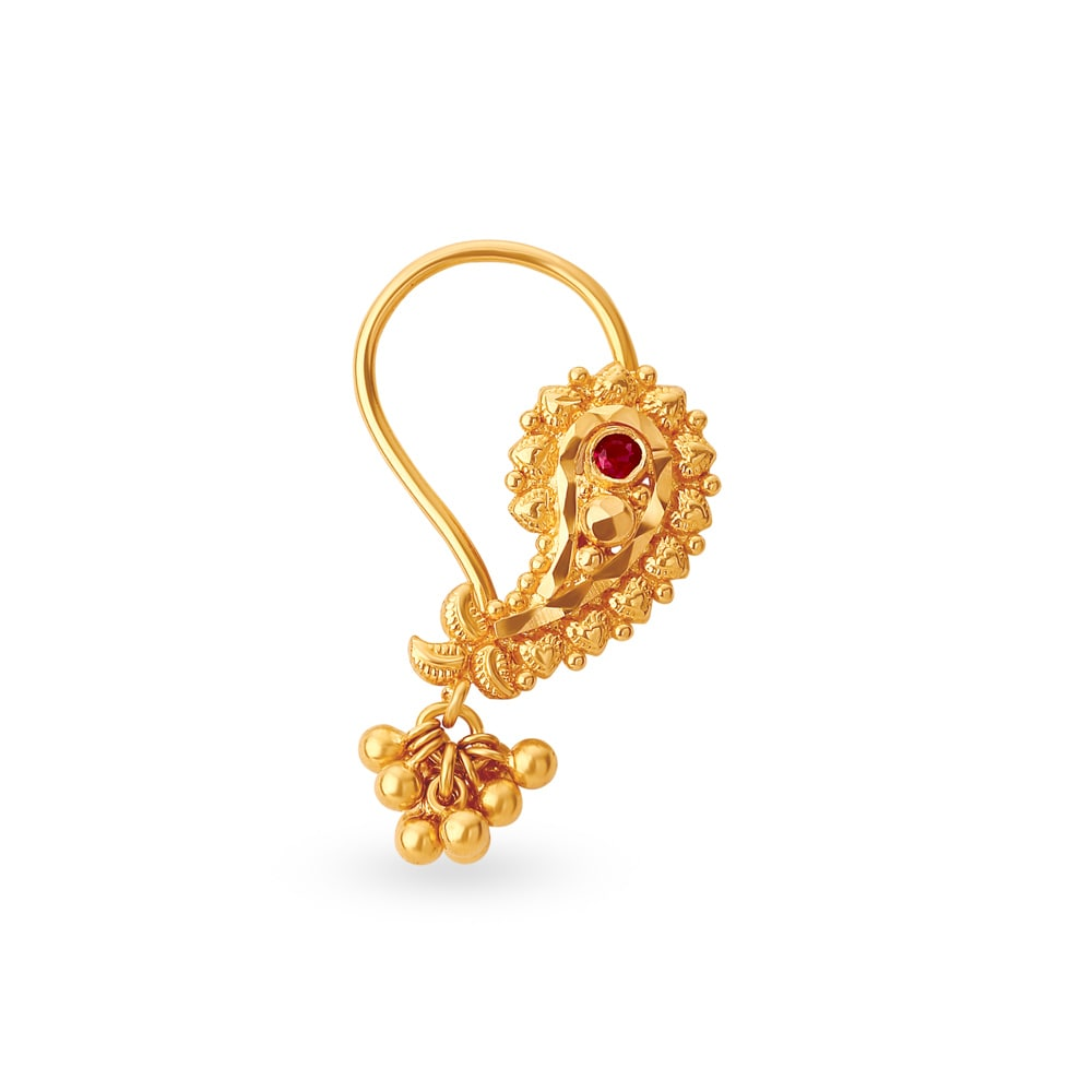 f41119ddba165 Buy Gold Nose Pins Online - Latest and Exclusive Designs in Nose ...