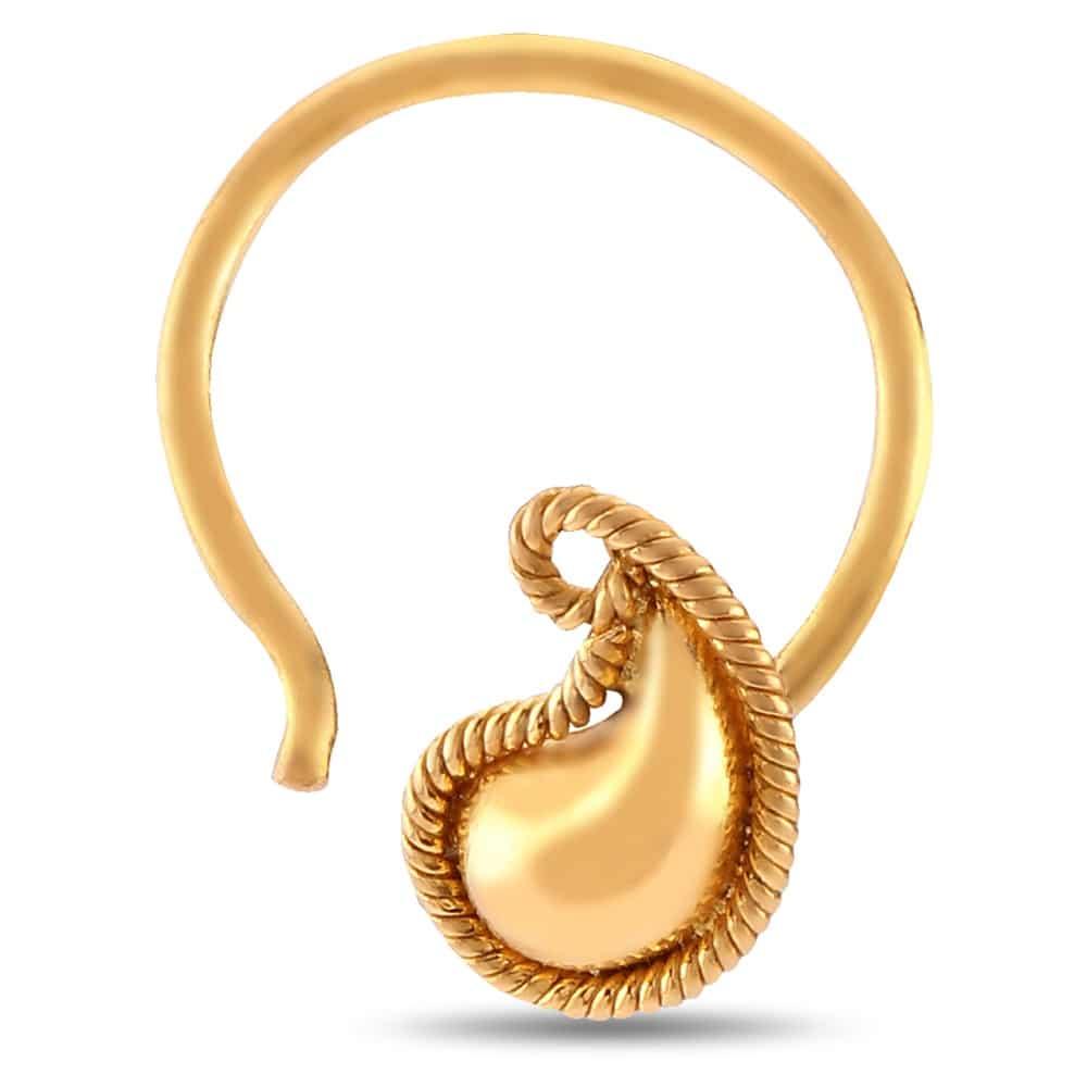 22 Karat Gold Nose Ring Tanishq