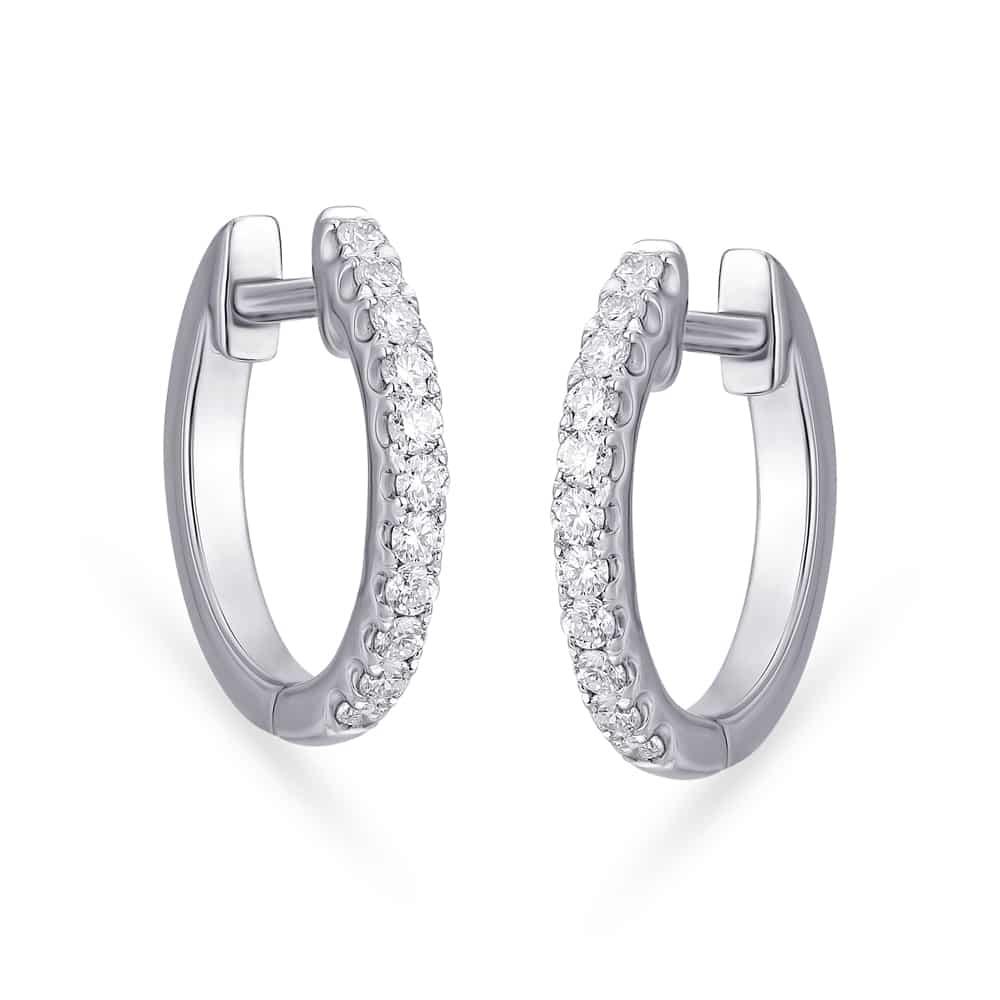 Buy Tanishq 950 Platinum And Diamond Classic Hoop Earrings Online Tanishq Tanishq