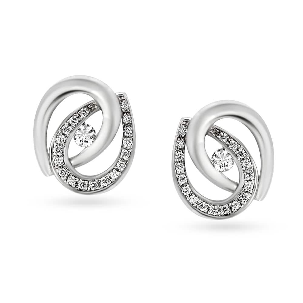 950 Platinum And Diamond Stud Earrings Tanishq