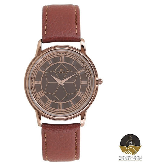 657653899 Buy Titan Brown Round Dial Leather Strap Analog Unisex Watch 1488QL01 Buy  Online at Best Price in India : Titan.co.in | Titan