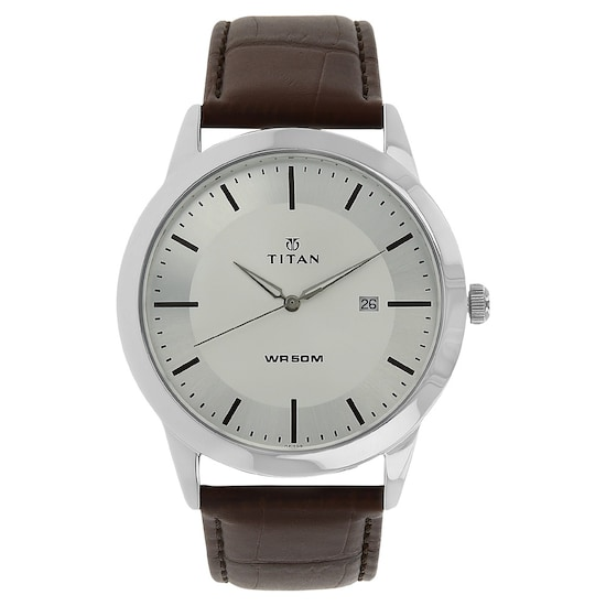 f361b0c493 HOME · MEN · Workwear; Silver Dial Brown Leather Strap Watch. Prev.  1584SL03_P ANGLEIMAGES_FULLIMAGE 1