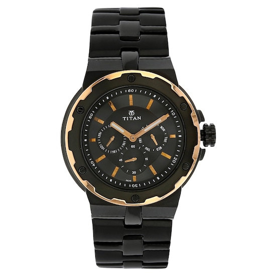 261dba62948 HOME · MEN · Occasion  Black Dial Black Stainless Steel Strap Watch. Prev.  1654KM04 P ANGLEIMAGES FULLIMAGE 1