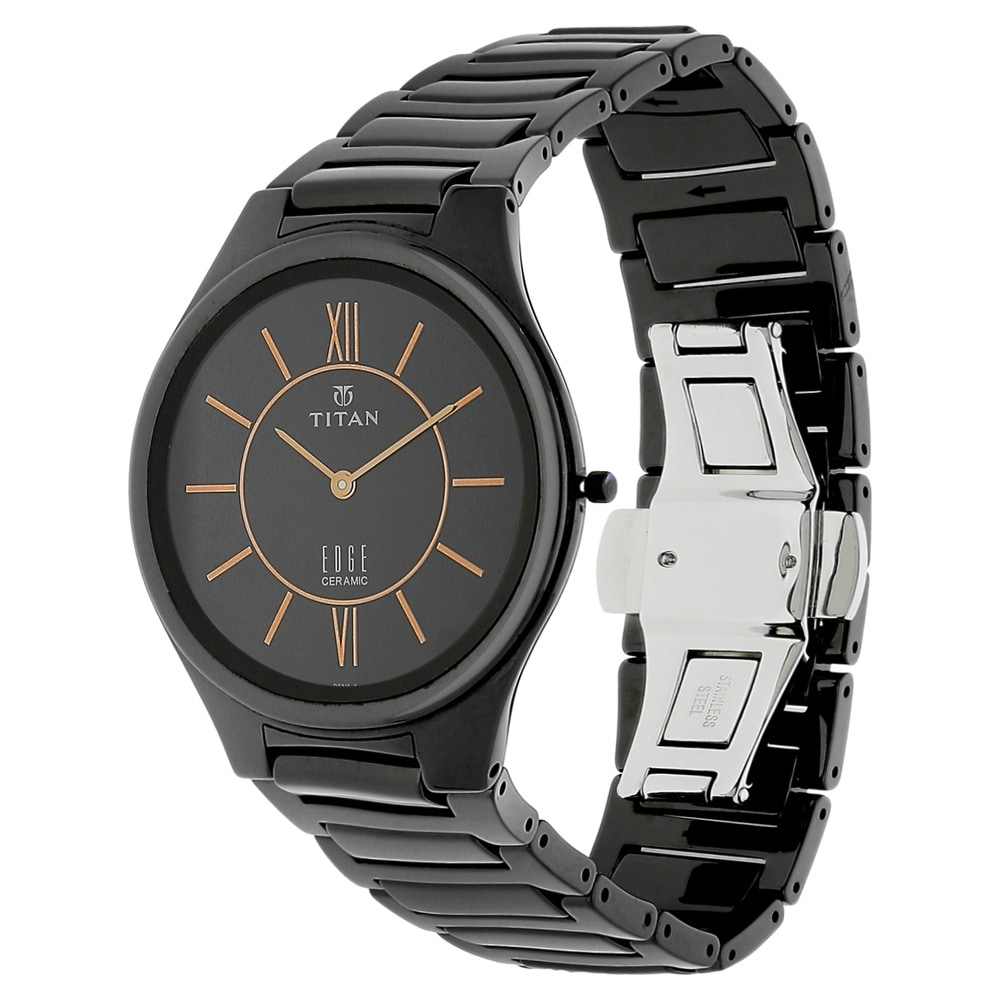 40718b5a602 Buy Titan Edge Ceramic Black Round Dial Ceramic Strap Analog Watches For  Men 1696NC01 Buy Online at Best Price in India   Titan.co.in