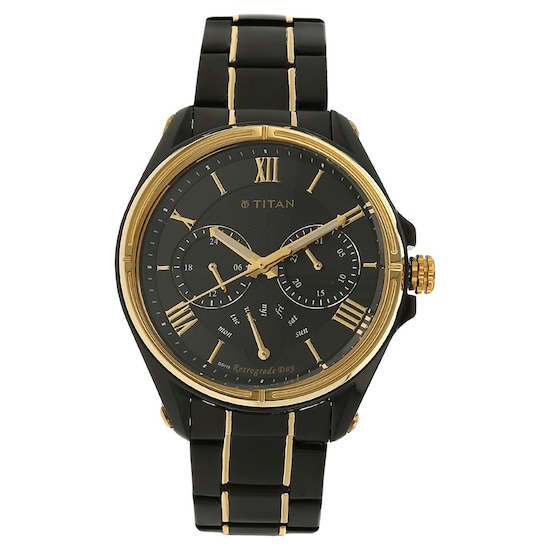 692b05d741a HOME · MEN · Occasion  Black Dial Two Toned Stainless Steel Strap Watch.  Prev. 1717KM02 P ANGLEIMAGES FULLIMAGE 1