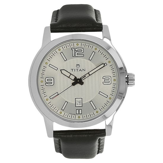 bfe5e6e65a HOME · MEN · Workwear; Workwear Watch with Silver Dial & Leather Strap.  Prev. 1730SL01_P ANGLEIMAGES_FULLIMAGE 1