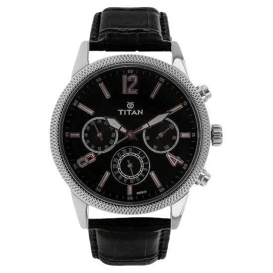 aab15c4976 Buy Titan Black Round Dial Leather Strap Multifunction Watches For Men  NK1734SL02 Buy Online at Best Price in India : Titan.co.in | Titan