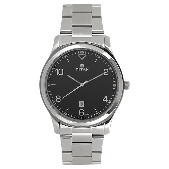 749e3a0ebd6 HOME · MEN · Workwear  Workwear Watch with Black Dial   Stainless Steel  Strap. Prev. 1770SM02 P ANGLEIMAGES FULLIMAGE 1