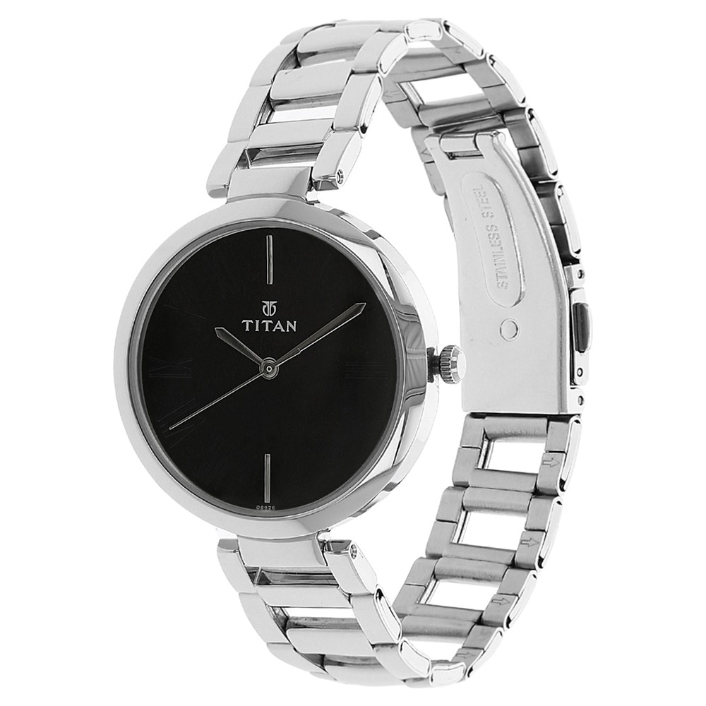Buy Titan Black Round Dial Stainless Steel Strap Analog Watches For Women Nk2480sm02 Buy Online At Best Price In India Titan Co In Titan