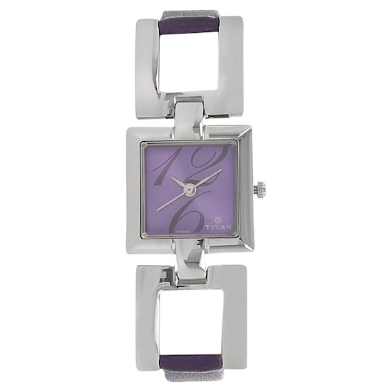 5c6a0a862d9 Buy Titan Purple Square Dial Leather Strap Analog Watches For Women  NK2484SL03 Buy Online at Best Price in India   Titan.co.in