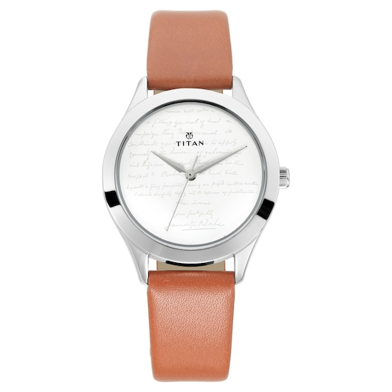 97bb9af64 Buy Titan White Round Dial Leather Strap Analog Watches For Women 2570SL03  Buy Online at Best Price in India : Titan.co.in | Titan