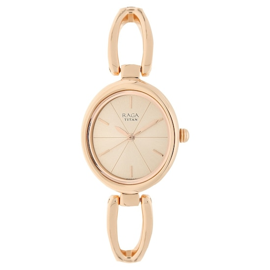 b15c207488d Buy Titan Raga Rose Gold Oval Dial Metal Strap Analog Watches For Women  2579WM01 Buy Online at Best Price in India   Titan.co.in