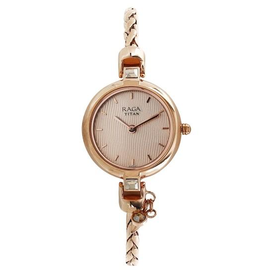 Raga Espana Rose Gold Dial Analog Watch
