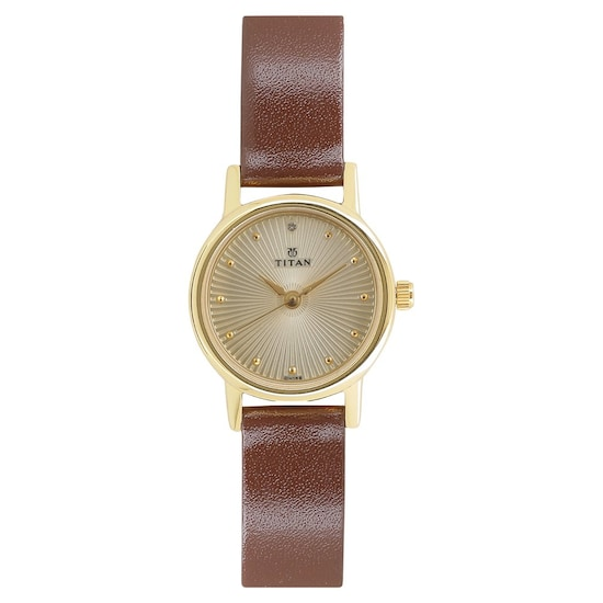 4c94ceac4bbfb HOME · WOMEN · WATCHES  Champagne Dial Brown Leather Strap Watch. Prev.  2593YL01 P ANGLEIMAGES FULLIMAGE 1