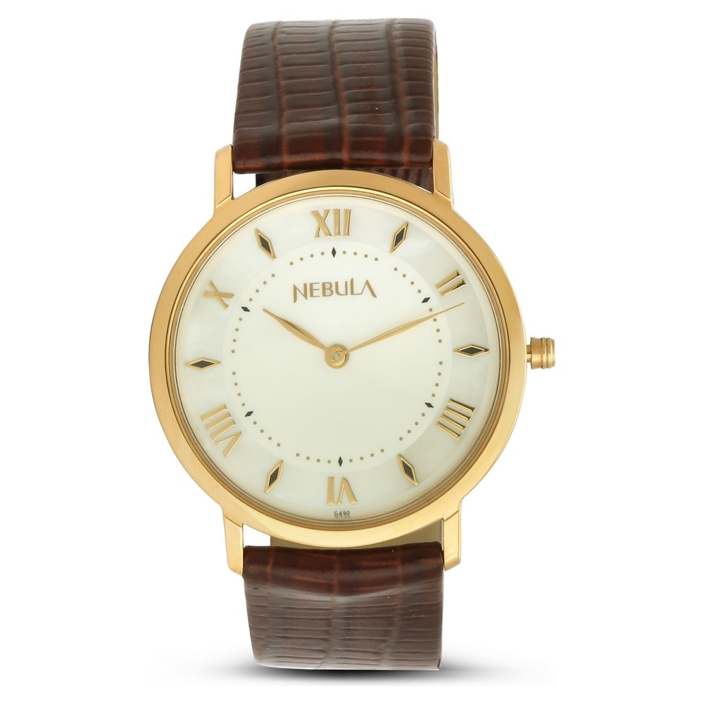 932b97b5a Buy Nebula Analog White Round Dial Leather Strap Watch for Men-600DL11  Official Online Store of Titan | Titan.co.in | Titan