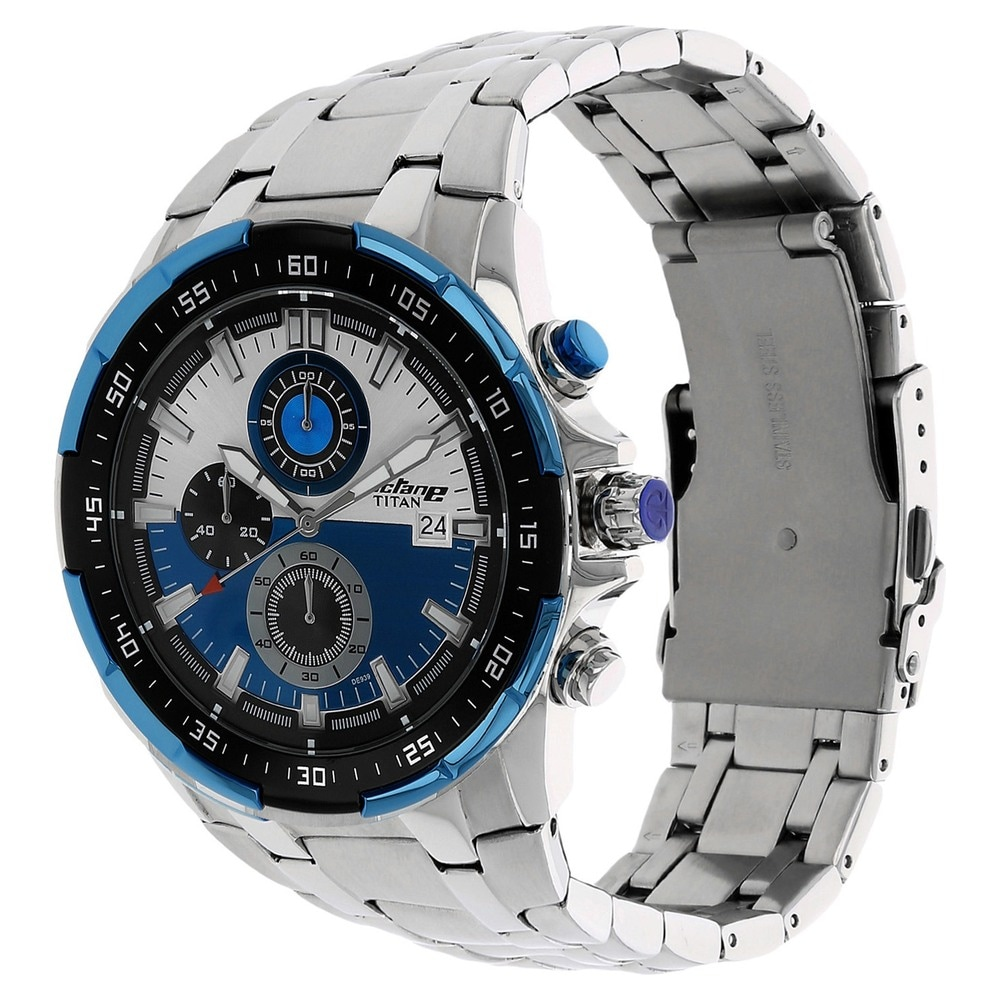 a7567406b Buy Titan Octane Blue Round Dial Chronograph Watches For Men 90044KM03 Buy  Online at Best Price in India   Titan.co.in