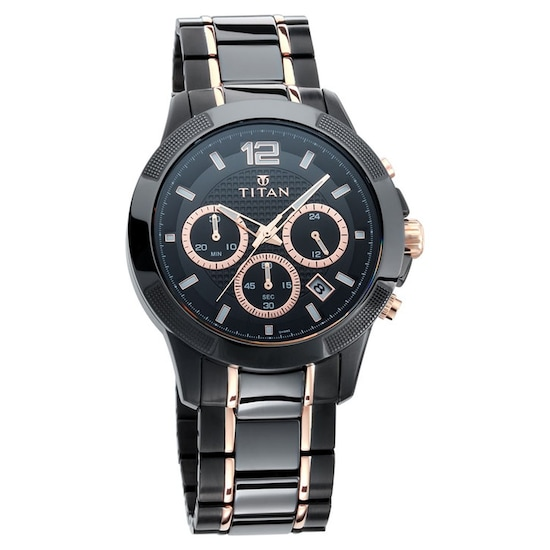 c2a8dd43a30 ... Black Dial Chronograph Watch with Steel   Ceramic Strap. Prev.  90090KD02 P ANGLEIMAGES FULLIMAGE 1