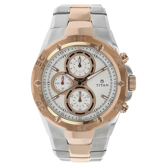 d5943c35a Buy Titan Rose Gold Round Dial Stainless Steel Strap Chronograph Watches  For Men NK9308KM01 Buy Online at Best Price in India : Titan.co.in | Titan