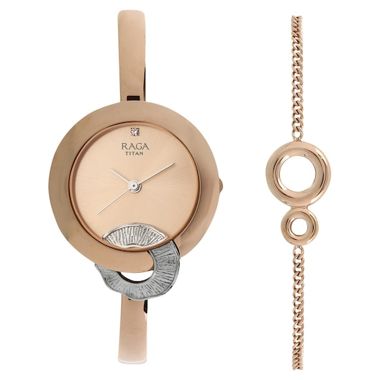 a4d06e7c2cd Buy Titan Raga Rose Gold Round Dial Metal Strap Analog Watches For Women  95051KM03F Buy Online at Best Price in India   Titan.co.in