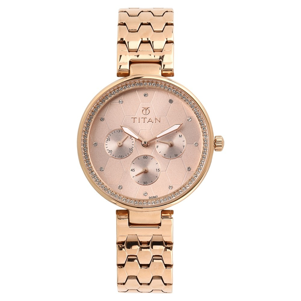 af739752f4 Whimsy Golden Dial Stainless Steel Watch