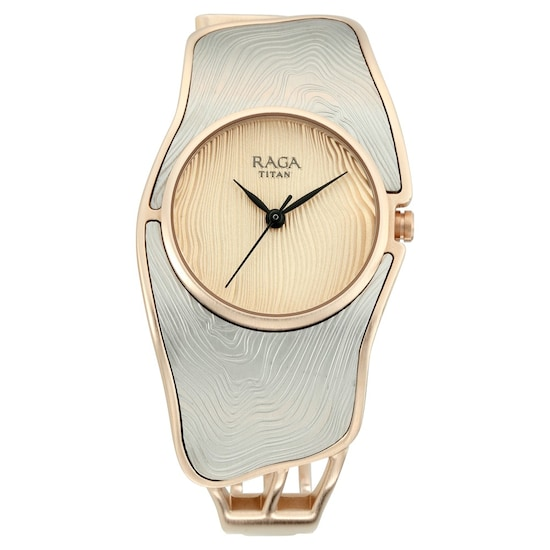 b3d04f2393f Buy Titan Raga Golden Round Dial Metal Strap Analog Watches For Women  95097KM01 Buy Online at Best Price in India   Titan.co.in