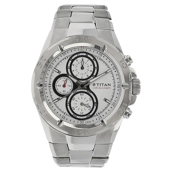 af6fef053ab Buy Titan Octane Silver Round Dial Stainless Steel Strap Chronograph Watches  For Boys NF9308SM01MA Buy Online at Best Price in India   Titan.co.in
