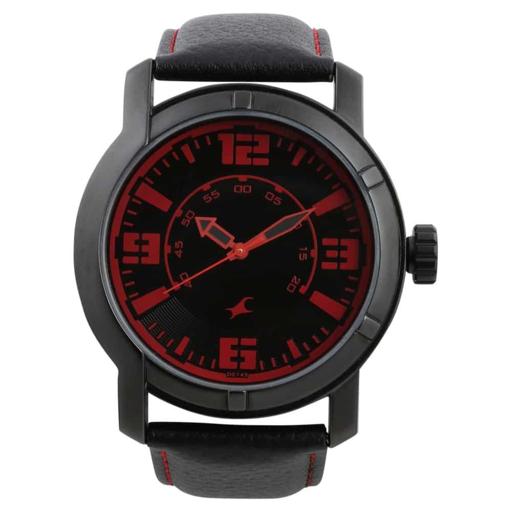 fastrack analog black watch for men id 3021nl01 buy online