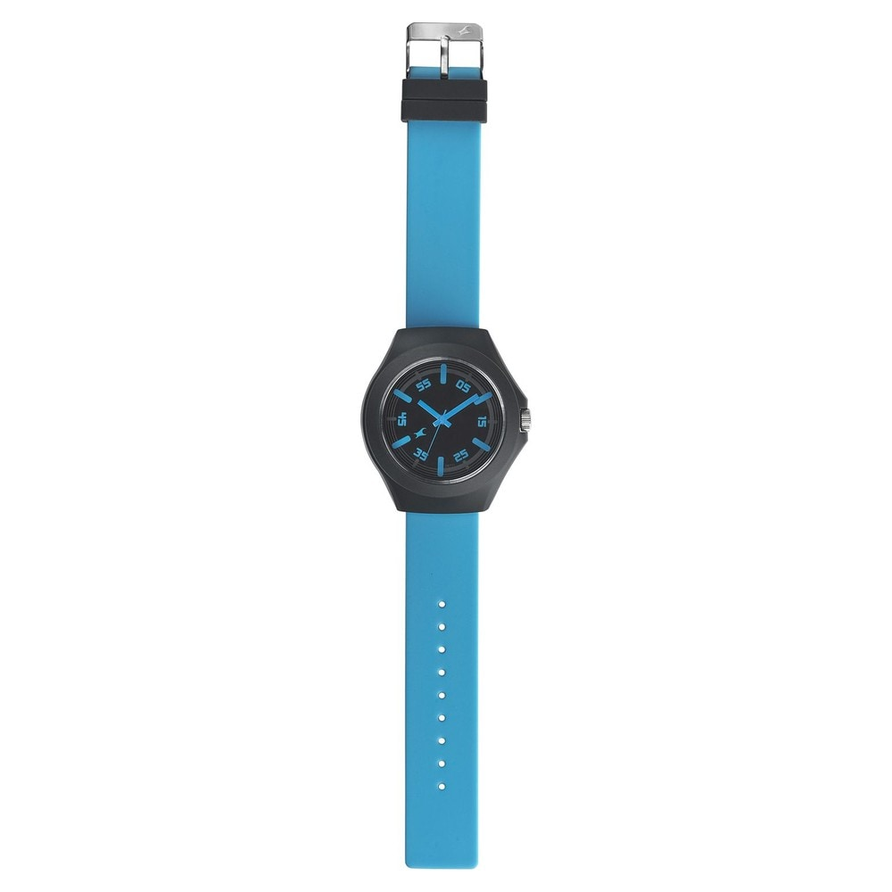 Buy Fastrack Tees Black Dial Unisex Watch-38004PP09J from