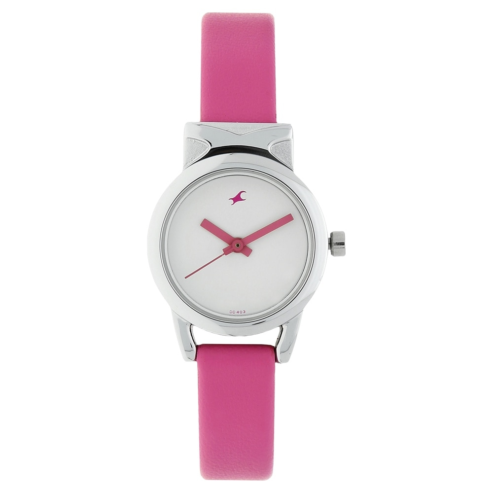 buy fastrack white dial watch for women6088sl01 at best