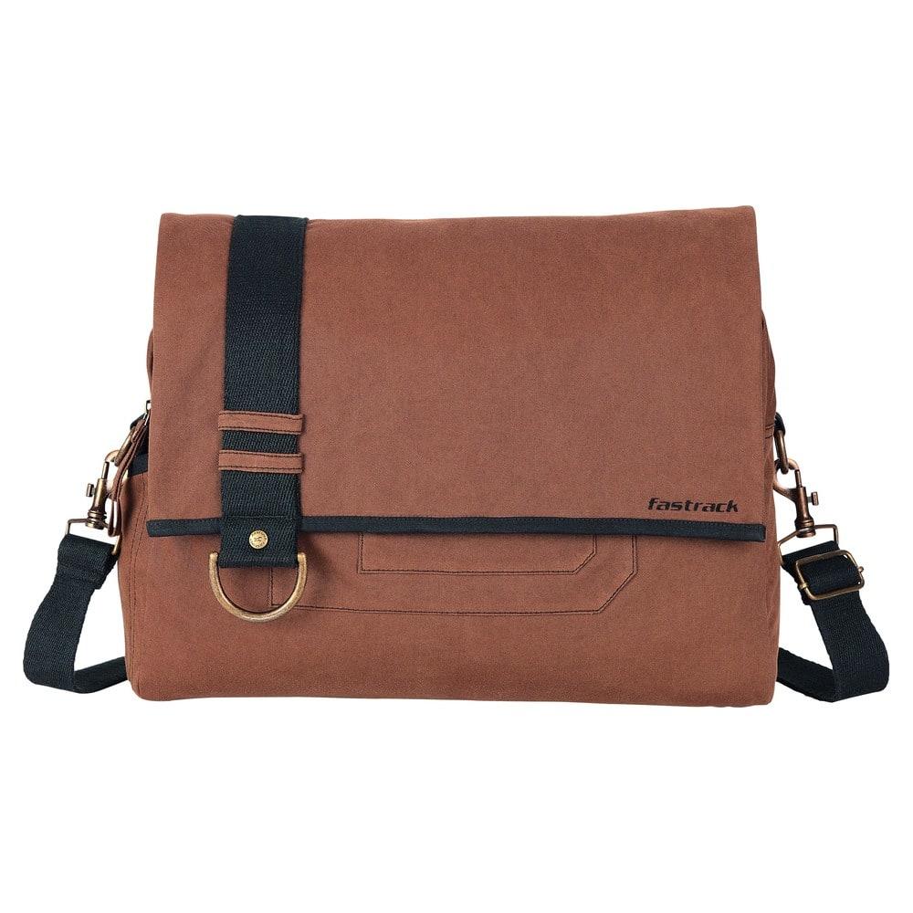 Buy Fastrack Polyester Brown Messenger Bag for Men ...
