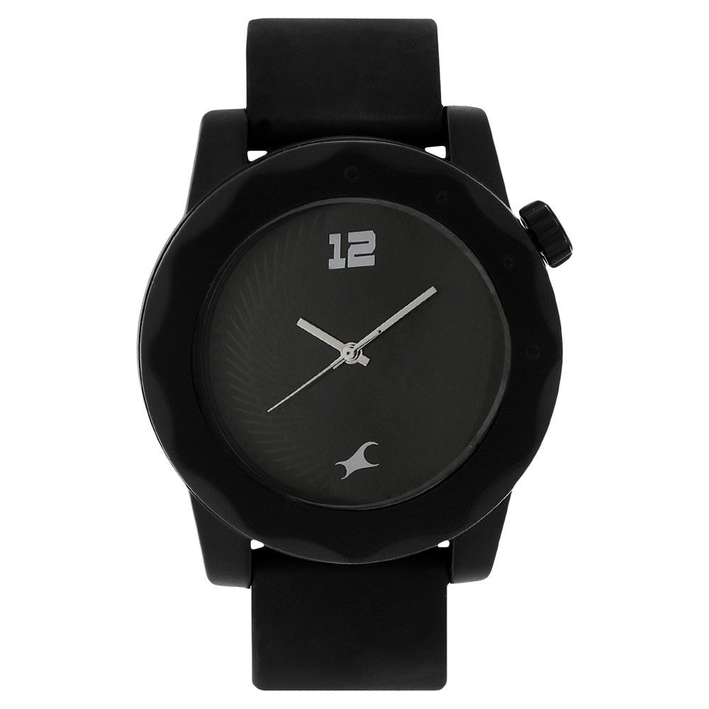 fastrack analog black watch for unisex id ng38022pp03cj