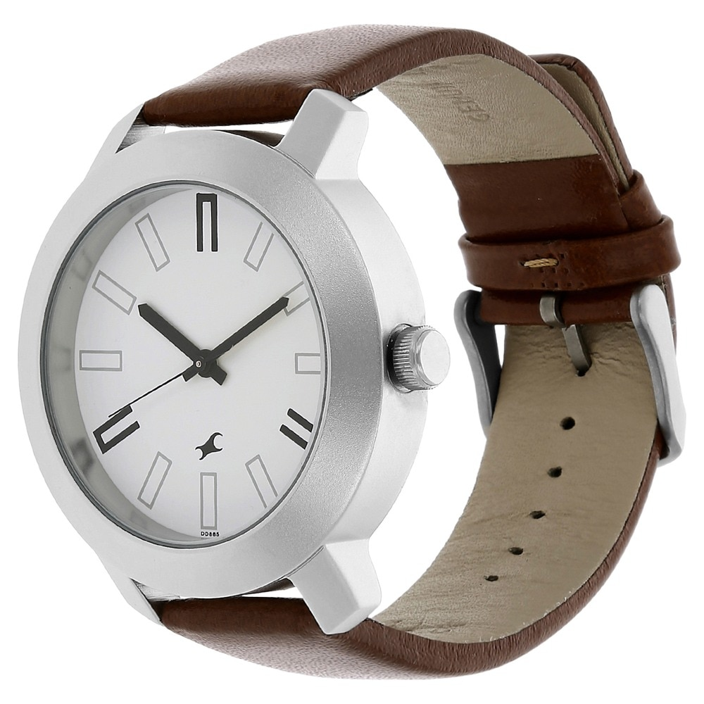 Fastrack Round Dial Brown Analog Watch ID 3120SL01 Buy Online at Titan