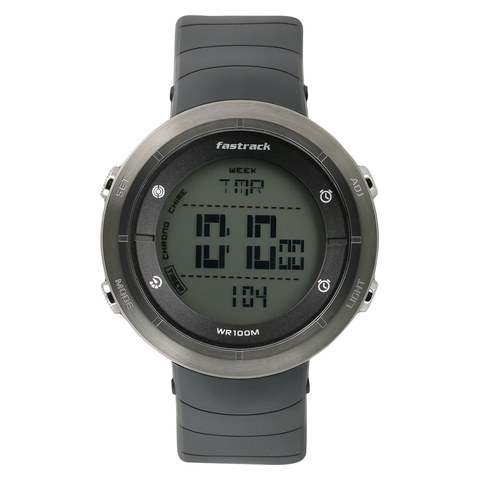 trendies watches grey fastrack plastic dial men shop strap product watch for digital black buy
