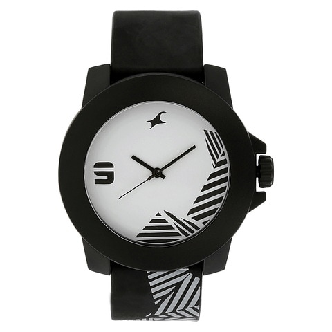 watch watches shop plastic analog black fastrack strap unisex product dial buy white for online