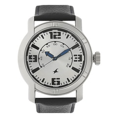 Fastrack Silver Dial Analog Watch for Men - 3021SL03