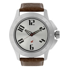 Fastrack Silver Watch For Men-3075SL03