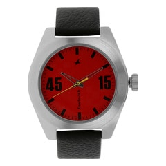 Fastrack Checkmate RED dial Analog Watch for Men-3110SL02