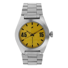 Fastrack Checkmate Yellow dial Analog Watch for Men-3110SM04