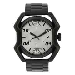 Fastrack Black Dial Watch For Men-3121SM02