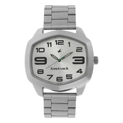 Fastrack Silver Dial Analog Watch for Men-3119SM03