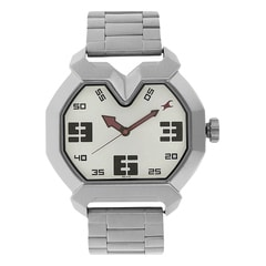 Fastrack Silver Dial Analog Watch For Men-3129SM01