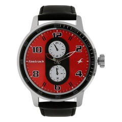 Fastrack Analog Black RED Watch for Women