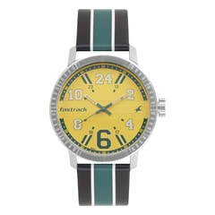 Fastrack Varsity Yellow Dial Analog Watch for Men