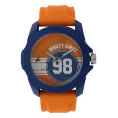 Fastrack Orange Dial Analog Watch for Unisex
