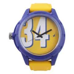 Fastrack Unisex Yellow Dial Analog WatchUnisex-38019PP04J